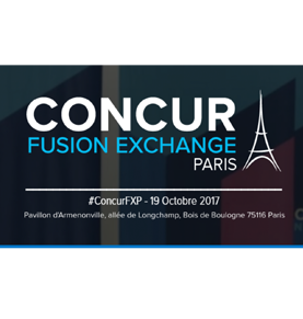 Concur Fusion Exchange Paris le 19 Octobre 2017